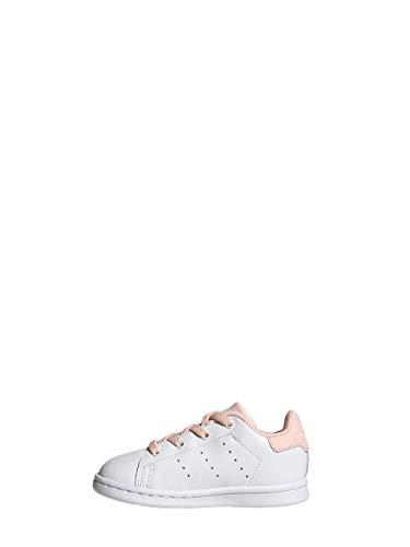 Adidas Stan Smith El I, Sneaker Unisex bebé, Cloud White/Haze Coral, 20 EU