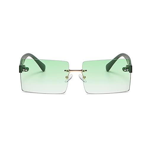 Gafas de sol de moda para hombres mujeres gafas de sol cuadradas Arroz Nail Frameless gafas de sol