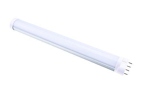 LuxVista 12W 2G11 220V LED Bombilla de Luz Natural 4000K Con 1200ml 120 Grados para Biblioteca, Sala, Oficina, Fábrica, Estacionamiento, Mercado