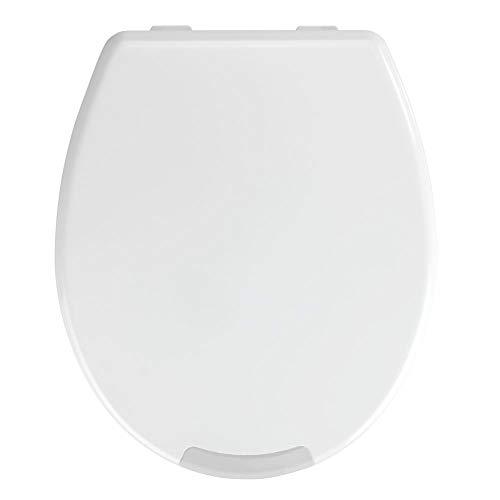 WENKO WC-Sitz Secura Comfort bis 150 kg Tragkraft, Hygiene-Toilettensitz mit 5 cm Sitzflächenerhöhung, Easy Close Absenkautomatik, maximale Sitzsicherheit, aus antibakteriellem Duroplast, 37 x 43,5 cm