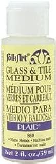 FolkArt Bulk Buy Plaid Crafts Glass and Tile Medium 2 Ounces 869 (6-Pack)