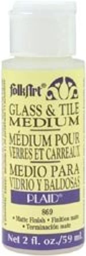 Bulk Buy: Plaid FolkArt Glass & Tile Medium 2 Ounces 869 (6-Pack)