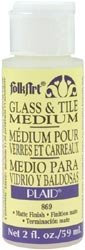 FolkArt Plaid Crafts Glass and Tile Medium 2 Ounces 869...