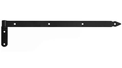Ladenband Ladenbänder Türbänder Torband 800 x 40 x 5 mm mit 16 mm Kloben Schwarz