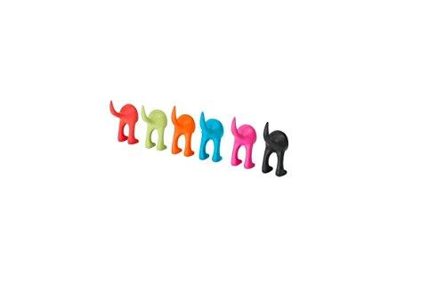 Ikea Nero Bastis, appendiabiti a forma di codino di cane in gomma morbida, Black