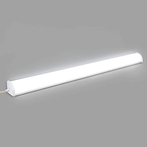 Viugreum Tubo LED Luci Lampada 120cm,Plafoniera LED da Officina 6000LM, 60W Plafoniera Led Ultraslim, Lampada a LED Senza Sfarfallio, IP65 Per Ambienti Umidi Garage Officina Giardino 6500K