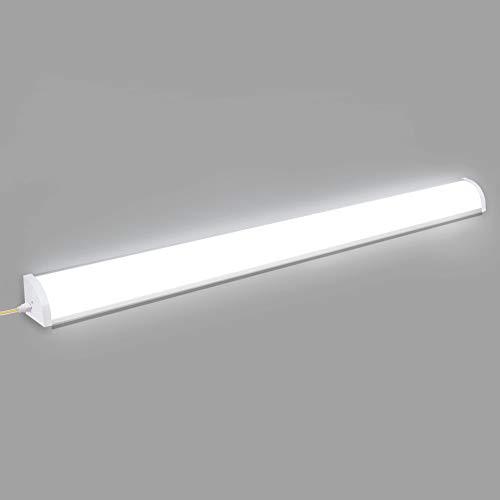 Viugreum LED Feuchtraum 120cm, 60W, 6000LM(100LM/W), Flimmerfreie LED Röhrenlampe,IP64 Für Feuchtraum Garage Lager Werkstatt Garten 6500K [Energieklasse A+]