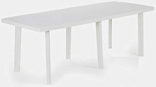 Savino Fiorenzo Tavolo tavolino Rettangolare Grande in Resina di plastica Bianco da Giardino