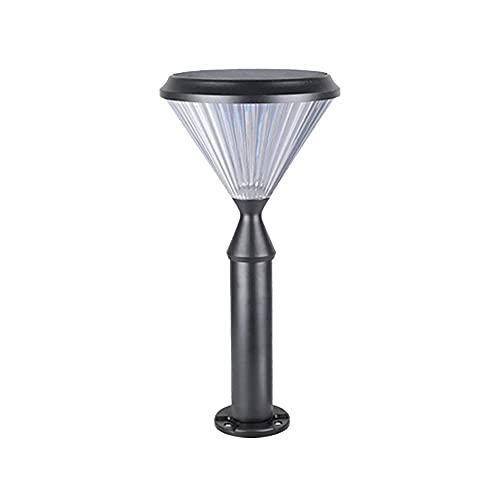BBZZ Solar diamante formando pilar linterna parque plaza iluminación pilar poste lámpara césped paisaje farolas para patio villa decoración muelle luces al aire libre