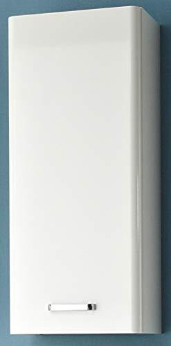 Pelipal 359 Piolo Wandschrank, Holzdekor, Weiß Hochglanz, 20,0 x 30,0 x 70,0 cm