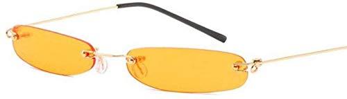 ZYIZEE Gafas de Sol Gafas de Sol pequeñas Srip para Mujer Hombre Gafas de Sol sin Marco para Mujer Naranja Azul Rojo Tonos Uv400-3
