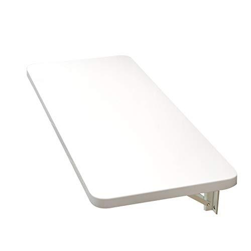AMDHZ Mesa Plegable de Pared Impermeable Escritorio Plegable Pared Pesado Escritorio Flotante Banco de Trabajo Usado para Cocina Estudio Garaje Banco de Trabajo (Color : White, Size : 100x30cm)