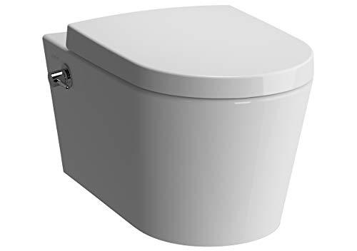 Vitra Option Nest Vitraflush spülrandlos mit Bidetfunktion - Dusch WC inkl. Armatur und Softclose WC-Sitz, Schallschutz und Anschlussgarnitur
