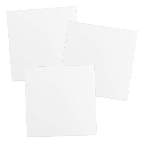 Leinwand auf Keilrahmen | 280 g/m² | weiß | ideal zum Bemalen mit Acrylfarben (30 x 30 cm | 3 Stück)