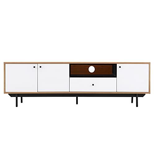 Wilsa – Mueble para TV de madera – Mueble de TV de diseño – Mueble de TV blanco – Longitud 173 cm
