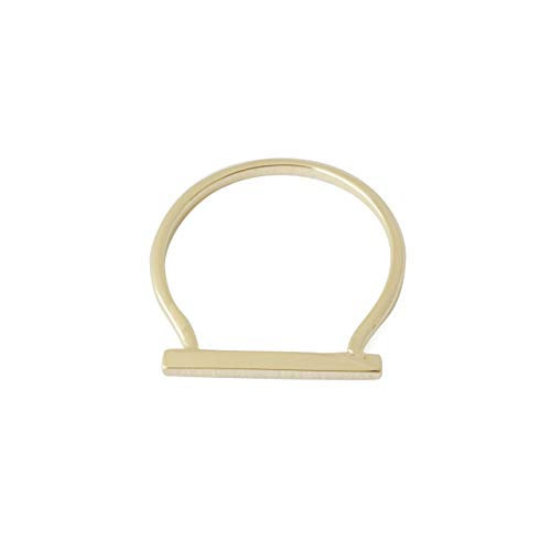 HONEYCAT Long Bar Ring in 18k Gold Plate | Minimalist, Delicate Jewelry (Gold, 5)