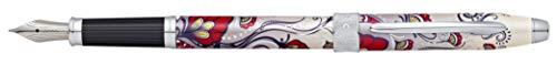 Cross AT0646-3MS Botánica - Pluma estilográfica, medio, Red Hummingbird Vine