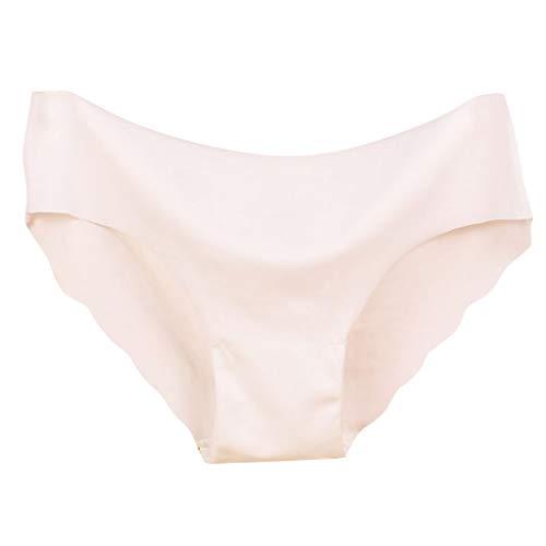 Basic Einfarbig Unterhose Damen Niedrige Taille Nahtlos Slip Bequeme Komfortabel Reizwäsche Dessous Sexy Atmungsaktiver Hipsters Panties Für Schlaf Und Daily FrüHling und Sommer Einfarbig Unterröcke