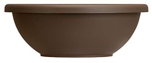 Garden Bowl Planter - The HC Companies 22' Decorative Flower Pot Planters w/ Removable Drain Plugs for Houseplants Chocolate (GAB22000E21)