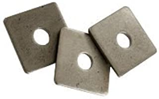 Thickness: 0.25 inch 5//8 Square Plate Washer Plain Finish Quantity: 80 pcs - OD: 3 inch
