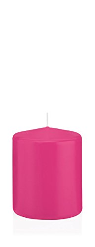 Bougies Pink, Bougies Pilier Pink 6 x 4 cm (H x Ø), 24 pièces, Bougies Wiedemann, Bougies de Marque Made in Germany