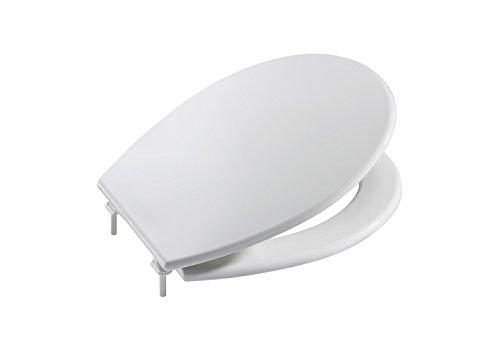 Roca A801396004 asiento y tapa, colección Victoria, bisagras acetálicas, color blanco
