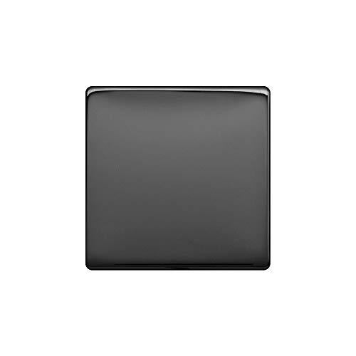 Lieber Black Nickel Single Blank Plates - Black Insert Screwless