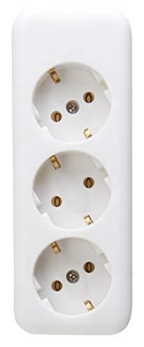Kopp 120301007 Steckdosenleiste 3-fach ohne Zuleitung
