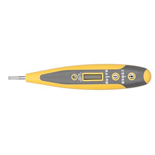Lápiz de prueba eléctrica, probador de voltaje, lápiz probador de voltaje portátil, pantalla LED digital duradera para electricistas, para el hogar, para la industria