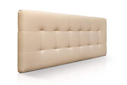 SUENOSZZZ-ESPECIALISTAS DEL DESCANSO Cabecero de Cama Canadá tapizado en Polipiel para Camas de 90 (100 x 57 cm) Polipiel Beige