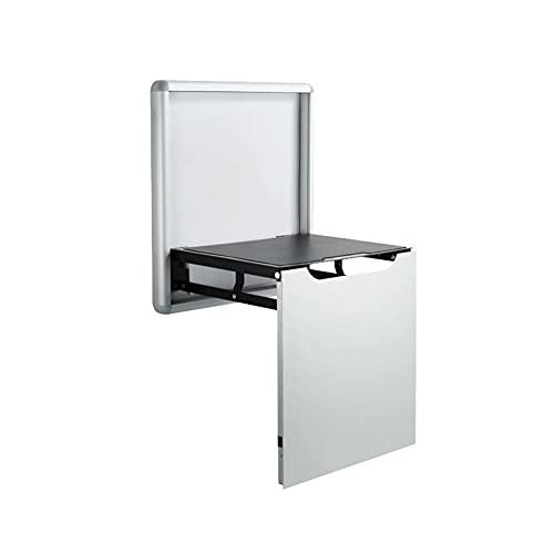 CXSD Silla de pared, silla de entrada, puerta, zapatero, zapatero, plegable, plegable, plegable, para pared, taburete de baño, lavado pequeño (color: plata)