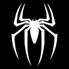 Spiderman Spider Logo Vinyl Decal Sticker|Cars Trucks Vans Walls Laptops|WHITE|5.5 In|KCD759
