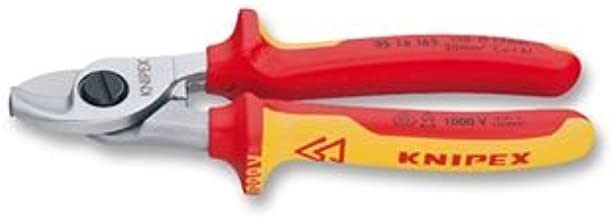 KNIPEX 95 26 165 Cable Shears with opening spring insulated with multi-component grips VDE-tested 165 mm