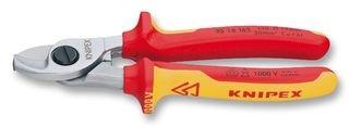 KNIPEX 95 16 165 Kabelschere isoliert mit Mehrkomponenten-Hüllen, VDE-geprüft 165 mm