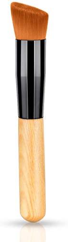 WEDER Manche en Bois Foundation Makeup Brush Blender-Full Coverage Application for Correaler, Powder, Cream and Liquid Make-Dense