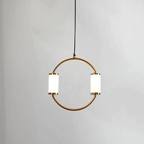 LLLKKK Lampadario a sospensione in ottone spazzolato, luci a sospensione in metallo con tubi G4, creative, rettangolari, semplici Droplights nordici per camera da letto, sala da pranzo