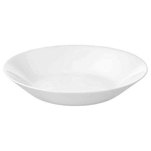 IKEA OFTAST White Dinner Plates, Side/Deep Plates and Bowls, Make Your Own Set (4pcs Deep Plates 20cm Dia)