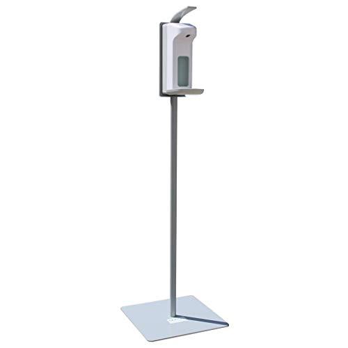 Hygiene-Station leichte Ausführung 130cm aus Metall für Kunden und Mitarbeiter - mobile Handdesinfektion mit Seifenspender