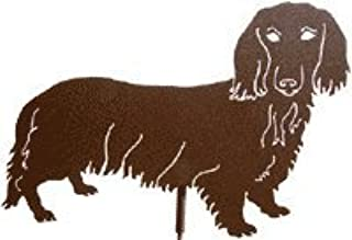 Dachshund, Long Haired, Metal Dog Garden Stake, Pet Memorial, Yard Art
