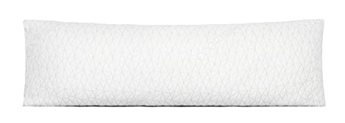Coop Home Goods Full Body Pillow - Memory Foam, Zippered Washable Cover - Adjustable, Long, Firm, Snuggle Pillows For Side and Back Sleepers - Premium, Big, Soft, GREENGUARD Gold Certified, Size 20x54