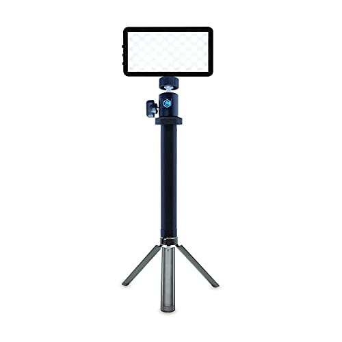Lume Cube Broadcast Lighting Kit   Live Streaming, Twitch, Video Conferencing, Remote Working   Lighting Accessory for Laptop, Adjustable Brightness and Color Temperature, Computer Mount Included