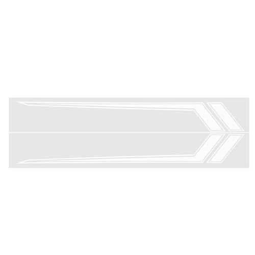 C-FUNN auto zijdeur Stripe Stickers Decoratie Decals 170x23cm Paar voor Dodge Ram 2009-2018 Kleur: wit