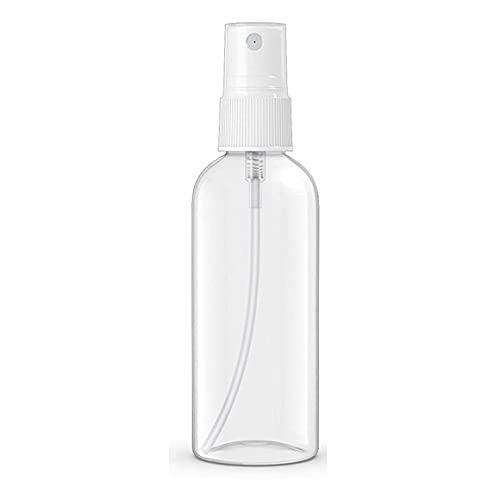 Aerosol portátil Botellas vacías Champú Perfume de baño Cosméticos de Viaje Aerosol de Prueba de plástico para Mascotas Botella vacía - Transparente 50 ml