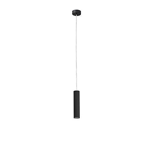 FARO BARCELONA 29895 - Ora Colgante (Bombilla incluida) LED, 4W, Cuerpo de Aluminio y Metal, Color Negro