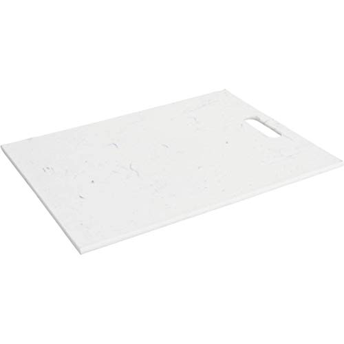 EH Excellent Houseware - Tagliere in plastica, 40 x 30 cm, colore: Bianco