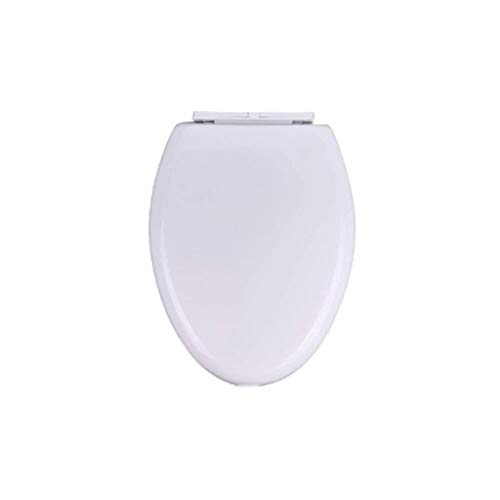 Zfggd Toilettensitz Universal-WC-Sitz Verlangsamen Mute Toilettendeckel For O/U/V-Form WC, Weiß-45~47 Cm ~ 37 Cm * 36 Verdickte