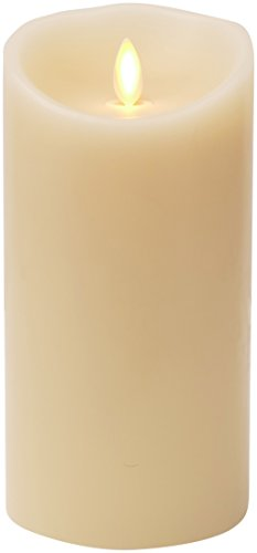 Luminara Flameless Candle: Vanilla Scented Moving Flame Candle with Timer (7' Ivory)