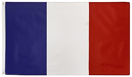 FlagScout - Frankreich Flagge   90 x 150 cm   Flaggen mit top Qualität, hochwertiger Verarbeitung und kräftigen Farben