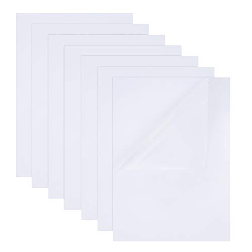 BENECREAT 18 PCS Hojas de Película Transparente Pet Etiqueta Adhesiva Impermeable A4...