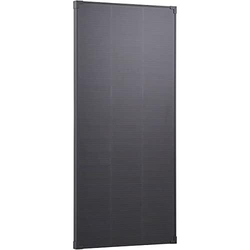 ECTIVE 12V 100W Monokristallines Solarmodul Black Edition mit 108 Zellen, Solarpanel mit Shingle-Technologie SSP100L Black in 7 Varianten 50-190 Watt